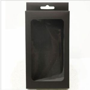 Black gift box with display window for ties in small or large