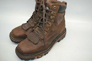 dae9141986d Cody James Men's Decimator Lace Kiltie Work Boots SOFT Wide Square ...