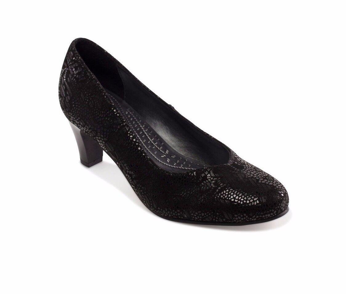 Padders Judy de cuero e del resbalón en el el el tribunal Garganta Confort V Tallas de Zapatos 2-9  producto de calidad