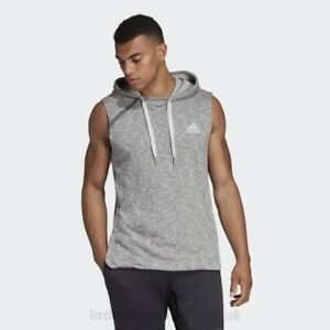 the latest b0941 5ab2a Details about NEW Adidas Pickup Shooter Mens Hoodie Size 2XL Sleeveless  Grey CE6934