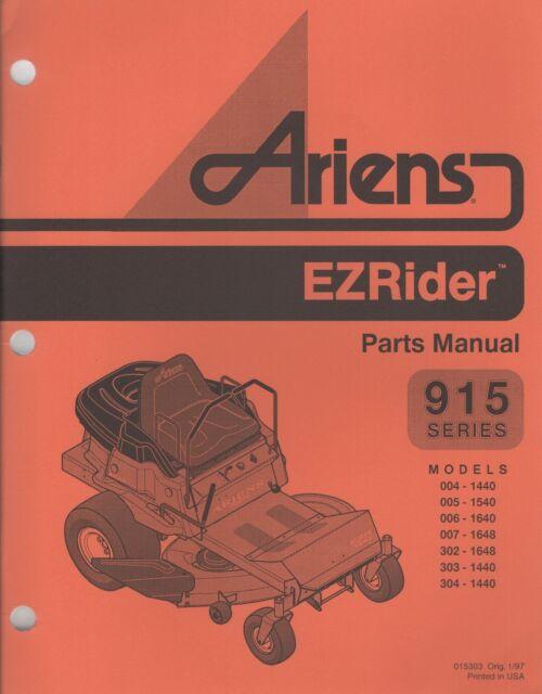 1997 Ariens Ezrider 915 Series Parts Manual P  N 015303
