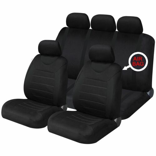 Black Mesh Full Set Front /& Rear Car Seat Covers for Honda Civic Estate All