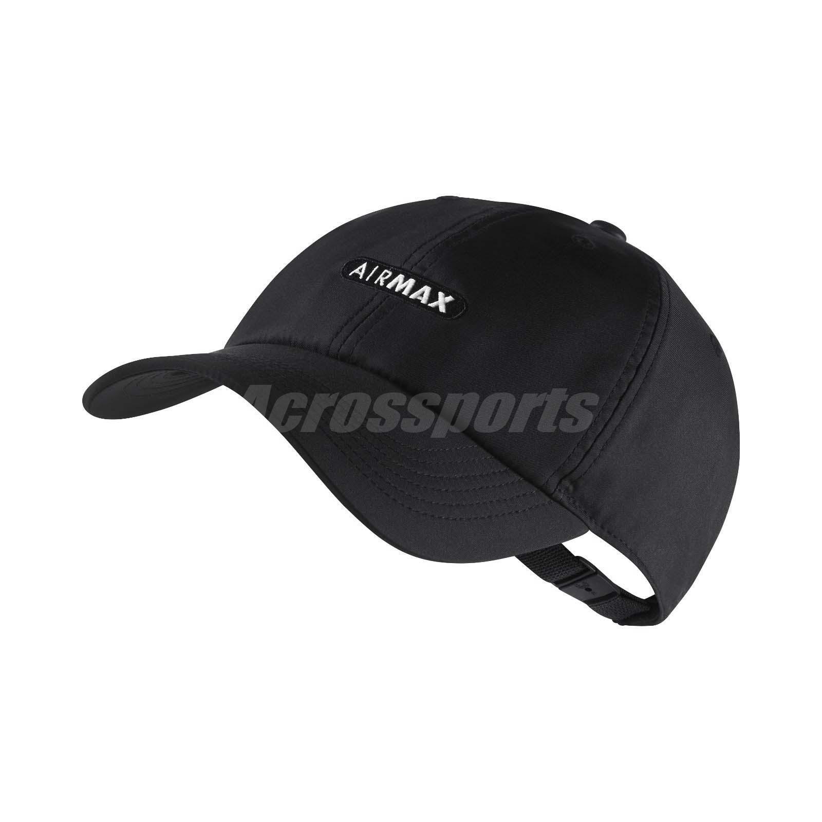 Nike Unisex SportWear Arobill H86 Gorra de béisbol Air Max Negro Blanco 891285-010