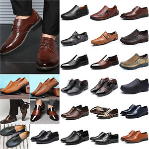 Men-039-s-Business-Dress-Shoes-Oxfords-Brogues-Formal-Casual-Loafers-Driving-Shoes