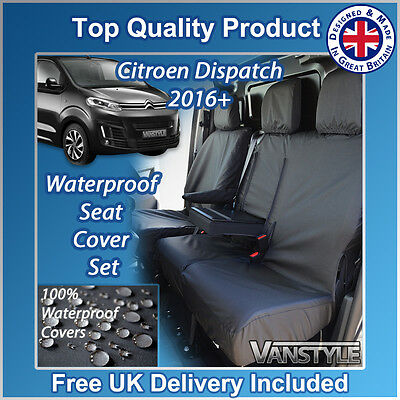 08-18 Tailored Black Driver Double Passenger Seat Covers for Peugeot Partner
