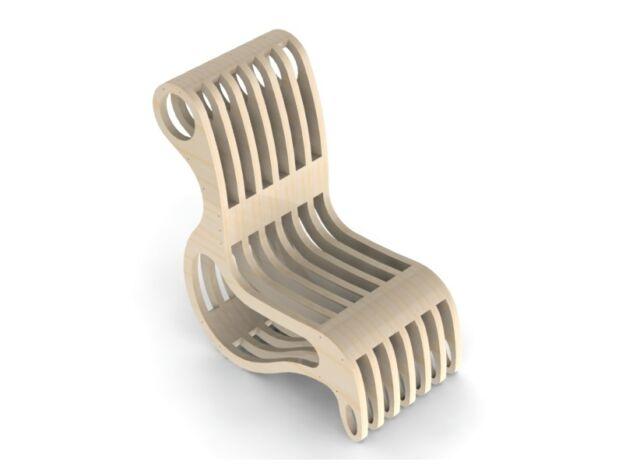 File CNC Router Laser Design Chair ArtCAM Vectors DXF Woodworking