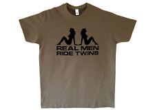 V-Twin T-shirt T Shirt - Vincent Rapide Black Lightning Shadow 100% Cotton
