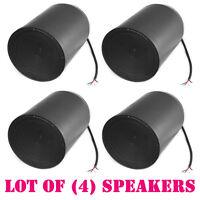 Lot Of (4) Pyle Prjs66b 6.5 Ceiling Hanging Pendant Speaker W/ 70v Transformer on Sale