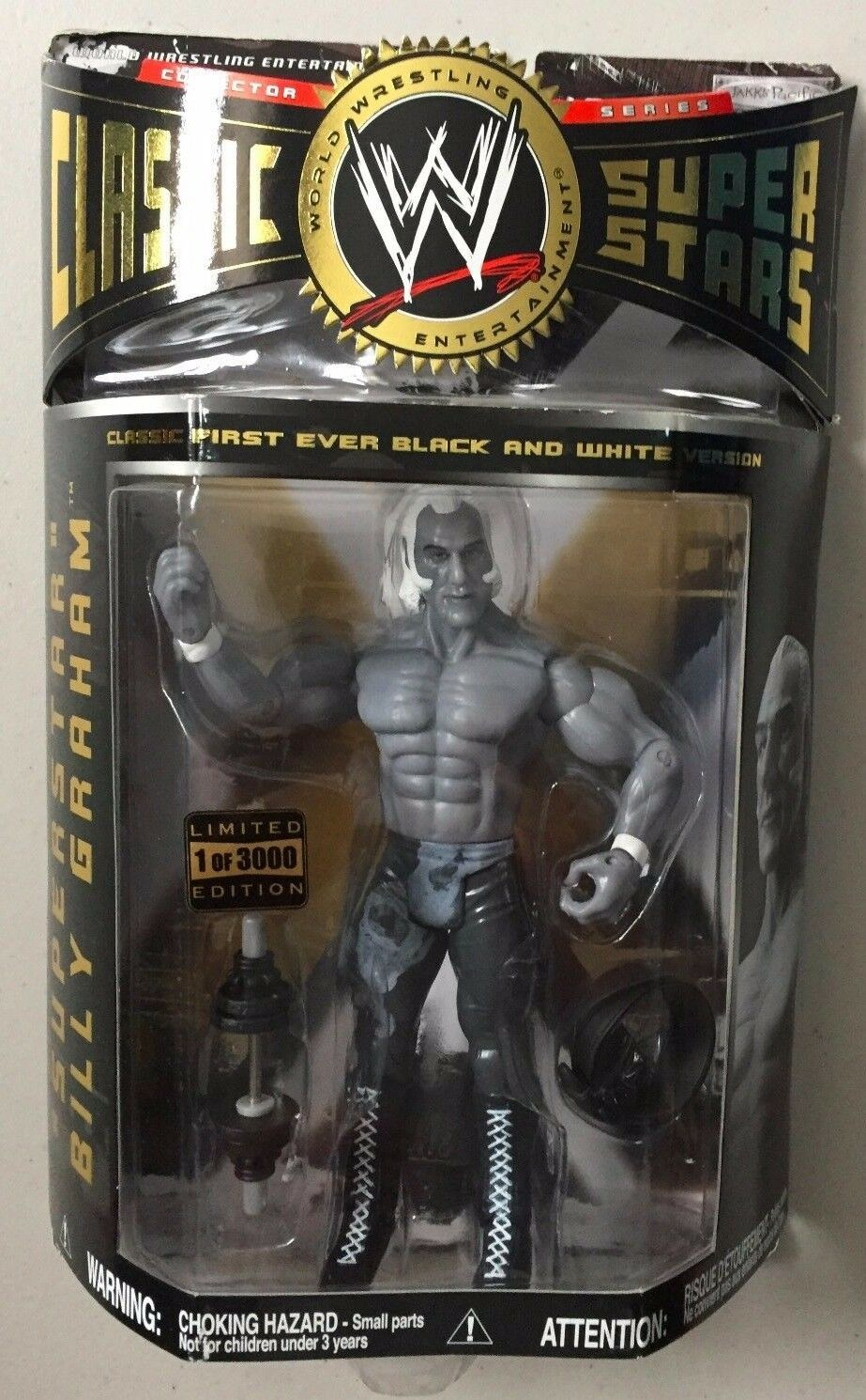 WWF Classic SuperSterns EXCLUSIVE SUPERStern BILLY GRAHAM Wrestling Figure WWE