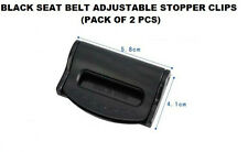 BLACK RANGE ROVER Seat Belts Safety Adjustable Stopper Buckle Plastic Clips 2PCS
