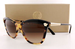 a2c9cda2b5352 Brand New VERSACE Sunglasses VE 4313 517713 Black Havana Gradient ...