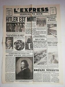 N1218-La-Une-Du-Journal-L-039-Express-3-mai-1945-Hitler-est-mort