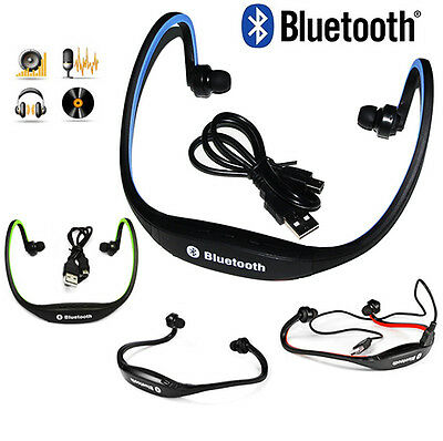 Stereo Wireless Bluetooth Headset Headphones Sport for iPhone 4 5 6 7 plus