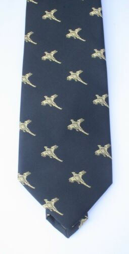 Green or blue microfibre Handmade quality Tie Pheasant Shooting Tie Red