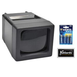 Zuma-SV-2-LED-Lighted-35mm-Slide-Viewer-w-4-Pack-AA-Batt-amp-Screen-Wipes