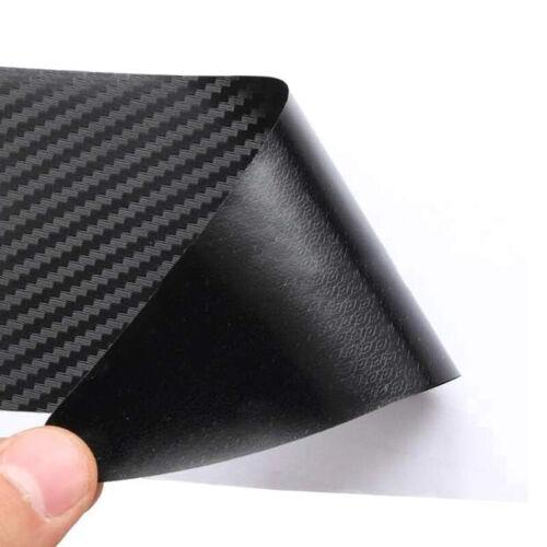 2Pcs Car Rear Bumper Protection Carbon Fiber 3D Bumper Protector Plate Strip