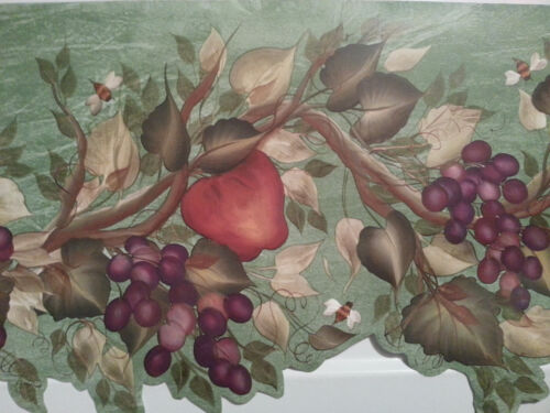 Brewster Wallcovering  Fruit Green Tree  Wallpaper Border #1