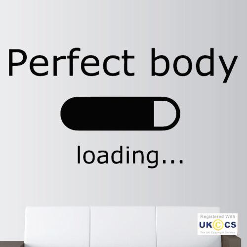 Cuerpo Perfecto Humor Gimnasio Fitness motivación Pegatinas de Pared Arte Calcomanía Vinilo habitación