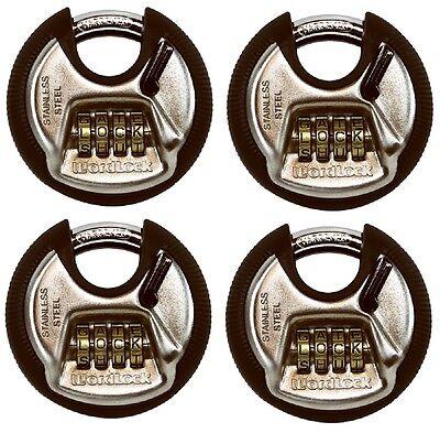 pl074sn Pl-074-sn 4-dial Combination Discuss Padlock Wordlock r