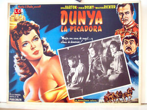 ONLY-AVAILABLE-24h-Dunja-EVA-BARTOK-1955-NO-SET-53300-1-MEXICAN-LOBBY-CARD-J