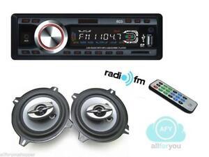 AUTORADIO-603-STEREO-AUTO-MP3-USB-SD-CARD-COPPIA-CASSE-AUTO-300-WATT-13-CM-2-VIE