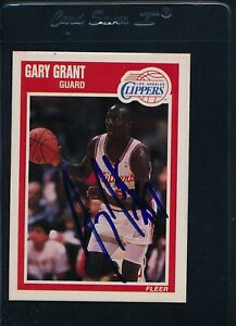 1989/90 Fleer #70 Gary Grant LA Clippers Signed Auto *54079