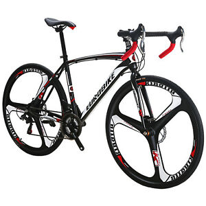 700C-Road-Bike-Shimano-21-Speed-Cycling-Bicycle-Disc-Brakes-Racing-49cm-Complete