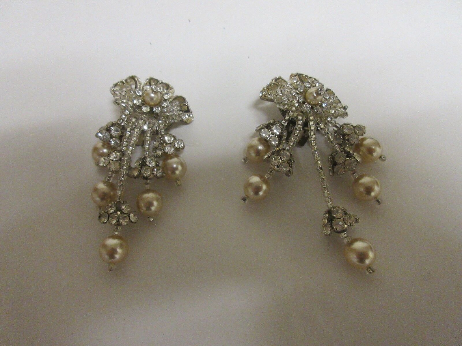 Earrings , Lot of 5 Pair , Silver Color , Stones , Pear