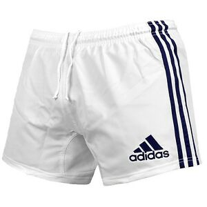Details zu Adidas 3S Shorts Herren Sporthose kurz Training Hose Fitness  Laufhose weiß/blau