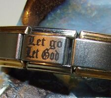 Alcoholics Anonymous AA Turn It Over Italian Bracelet Charm Stainless Steel Link