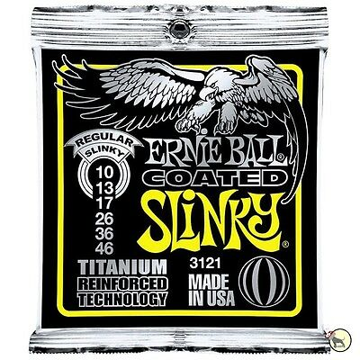 Ernie Ball 3121 Coated Electric Titanium RPS Regular Slinky Guitar Strings 10-46