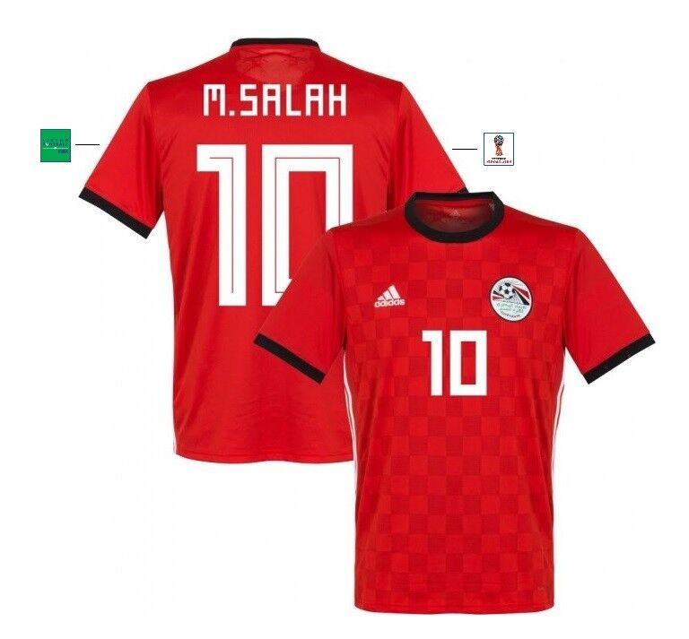 Trikot Adidas Ägypten WM 2018 Home - M. Salah 10 [S bis XXL] Egypt Liverpool