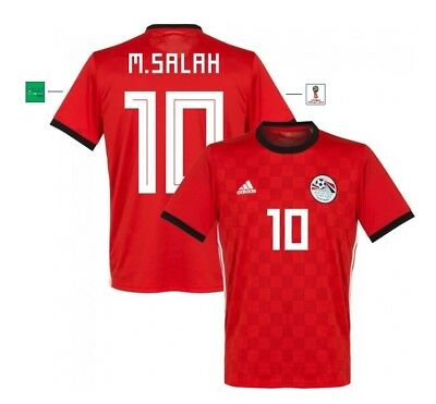 Salah 10 S bis XXL Egypt Liverpool M Trikot Adidas Ägypten WM 2018 Home