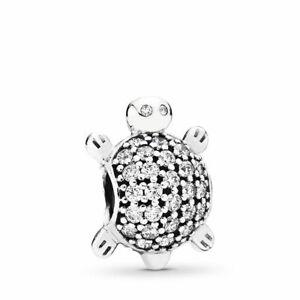 Authentic-Pandora-Charms-925-ALE-Sterling-Silver-CZ-Turtle-Bracelet-Bead-Charm