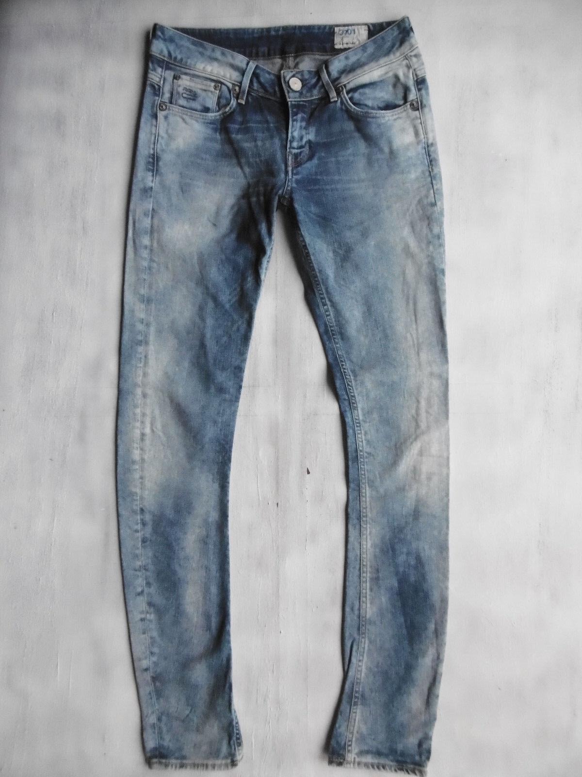 stretch Blau aged WMN Skinny 3301 G Star Jeans 1AZust