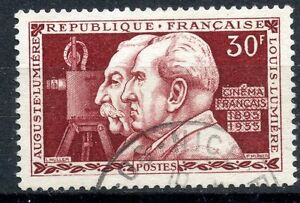 TIMBRE-FRANCE-OBLITERE-N-1033-INVENTION-CINEMATOGRAPHE-PAR-LES-FRERES-LUMIERE