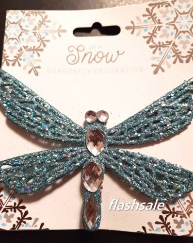 Dragonfly Butterfly Glitter Jewel Clip Christmas Tree Decoration Ornament Gift