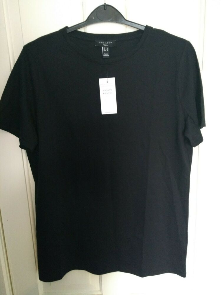 Femme T-shirt Et Gilet Bundle (3 Sommets). Long. Bnwt. Taille 14. New Look & George.