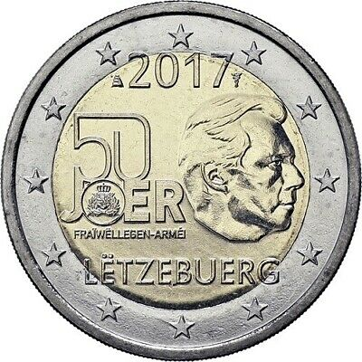 Luxembourg 2 euro 2017 Grand Duke Guillaume III  Bimetal UNC