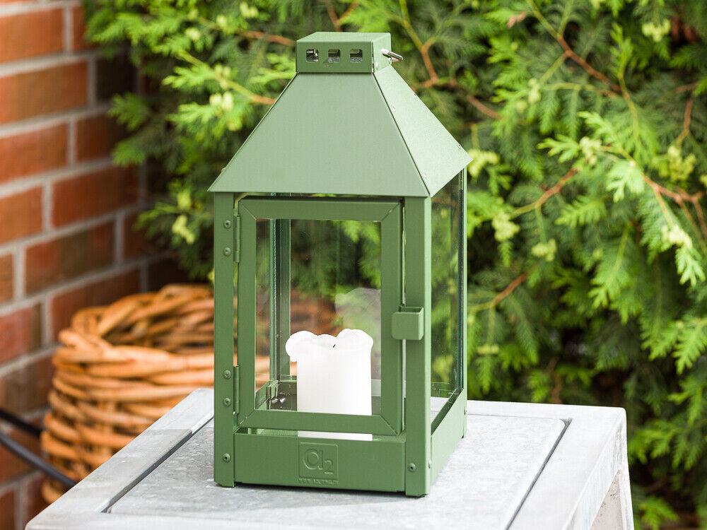 A2 Living para Todo Clima Linterna Metal Mini verde Inoxidable 34CM