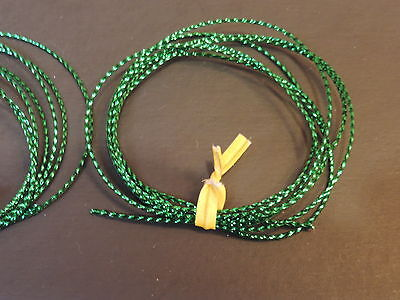 GREEN 1mm  Mylar Tubing Piping Fly Tying 2 Yards XXS