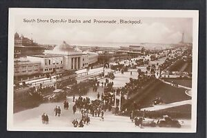 L-K-South-Shore-Open-Air-Baths-and-Promenade-Blackpool-1920-039-s-RP-Postcard