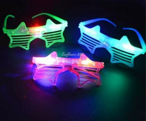 LED Shutter Glasses Men Women Flashing Light Up Rave Party Glow Eye-wear LOT