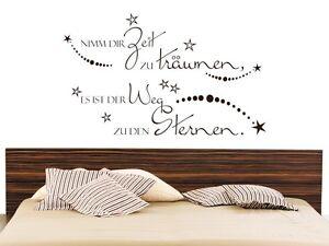 Details zu Wandtattoo für Schlafzimmer Wandtatoo Spruch Nimm dir Zeit um zu  träumen Zitat