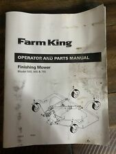 Farm King 555 655 Amp 755 Finishing Mower Operator Instruction Amp Parts Manual