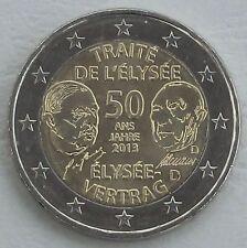 2 euros Alemania d 2013 elíseo-tratado unz