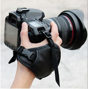 Cámara De Cuero PU Correa de Muñeca Mano Agarre Para Canon Nikon Sony Olympus SLR DSLR