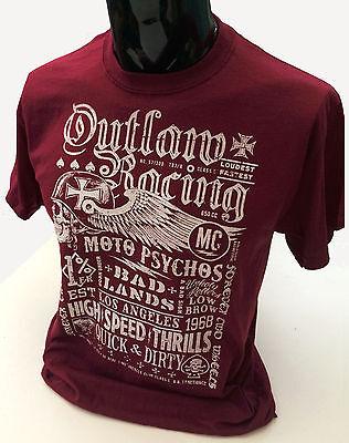 Grunge Distressed USA Flag T-Shirt mens S-2XL Biker tee rock punk motorcycle