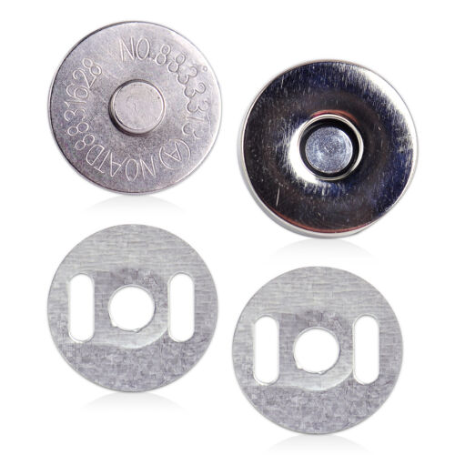 18mm Bag Purse Round Magnetic Snaps Closures Button Clasp Press Studs Round