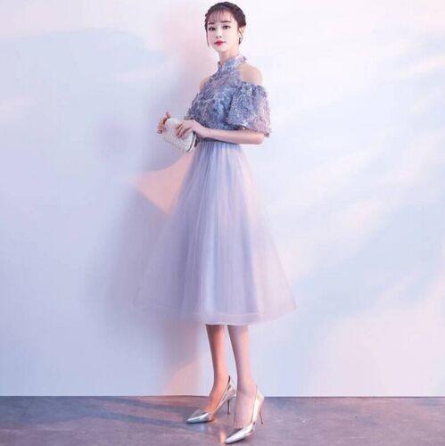 Women/'s Elegant Lace Floral Mesh Long Dress Cocktail Formal Evening Slim Dresses